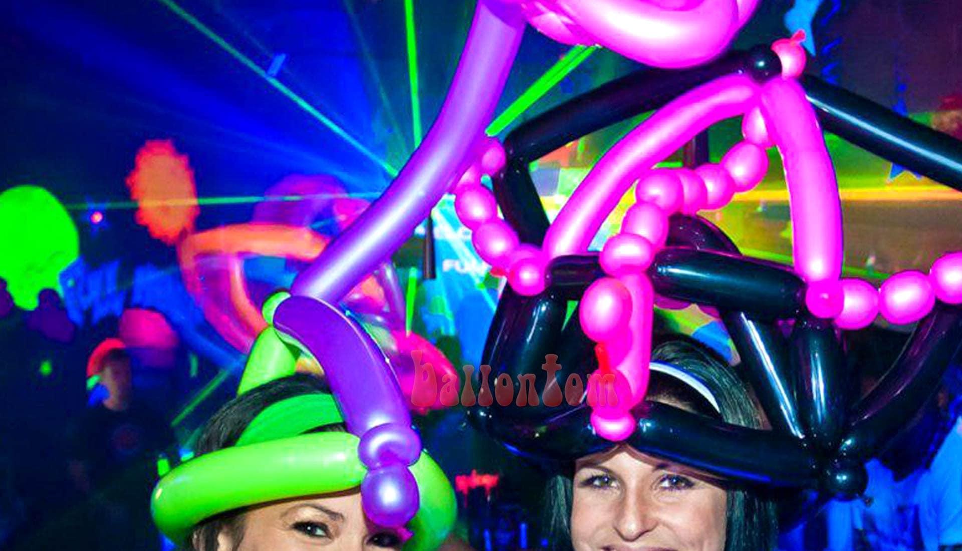 Ballon Neonparty mit Ballonkünstler ballontom