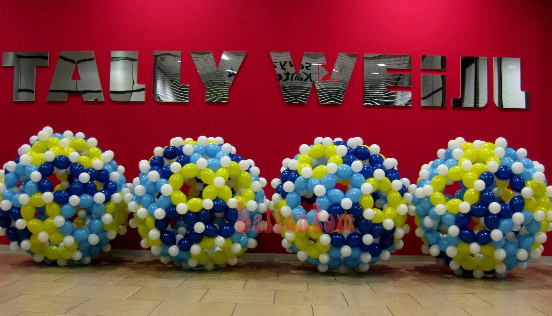 Ballonbälle von ballontom zum Jubiläum Seedam Center - Projekt: Ballonbox - Foto: Walter Businger