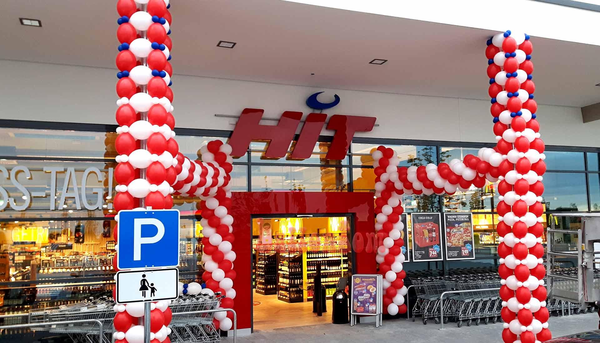 Ballondekoration HIT-Markt
