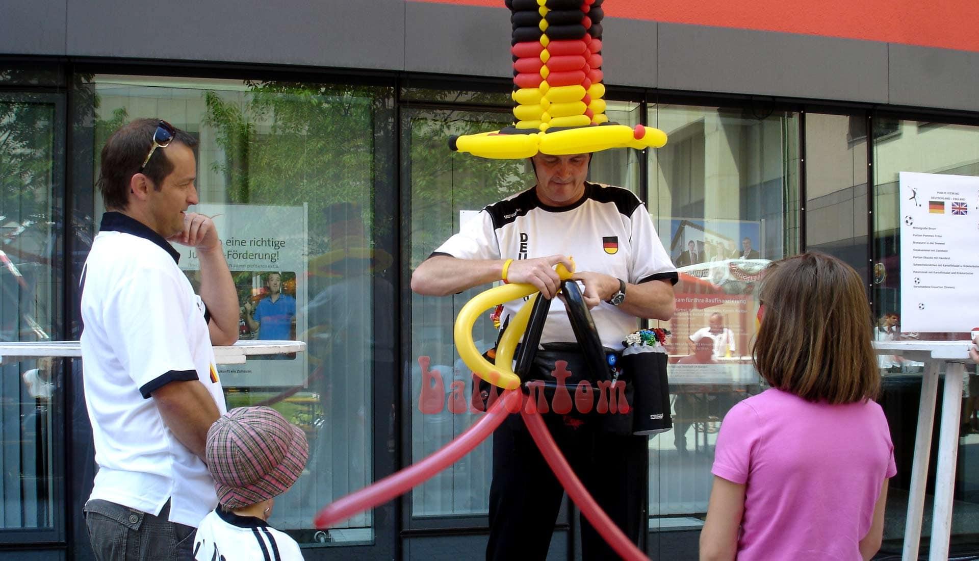 Ballonfanmodellage in Erding mit ballontom