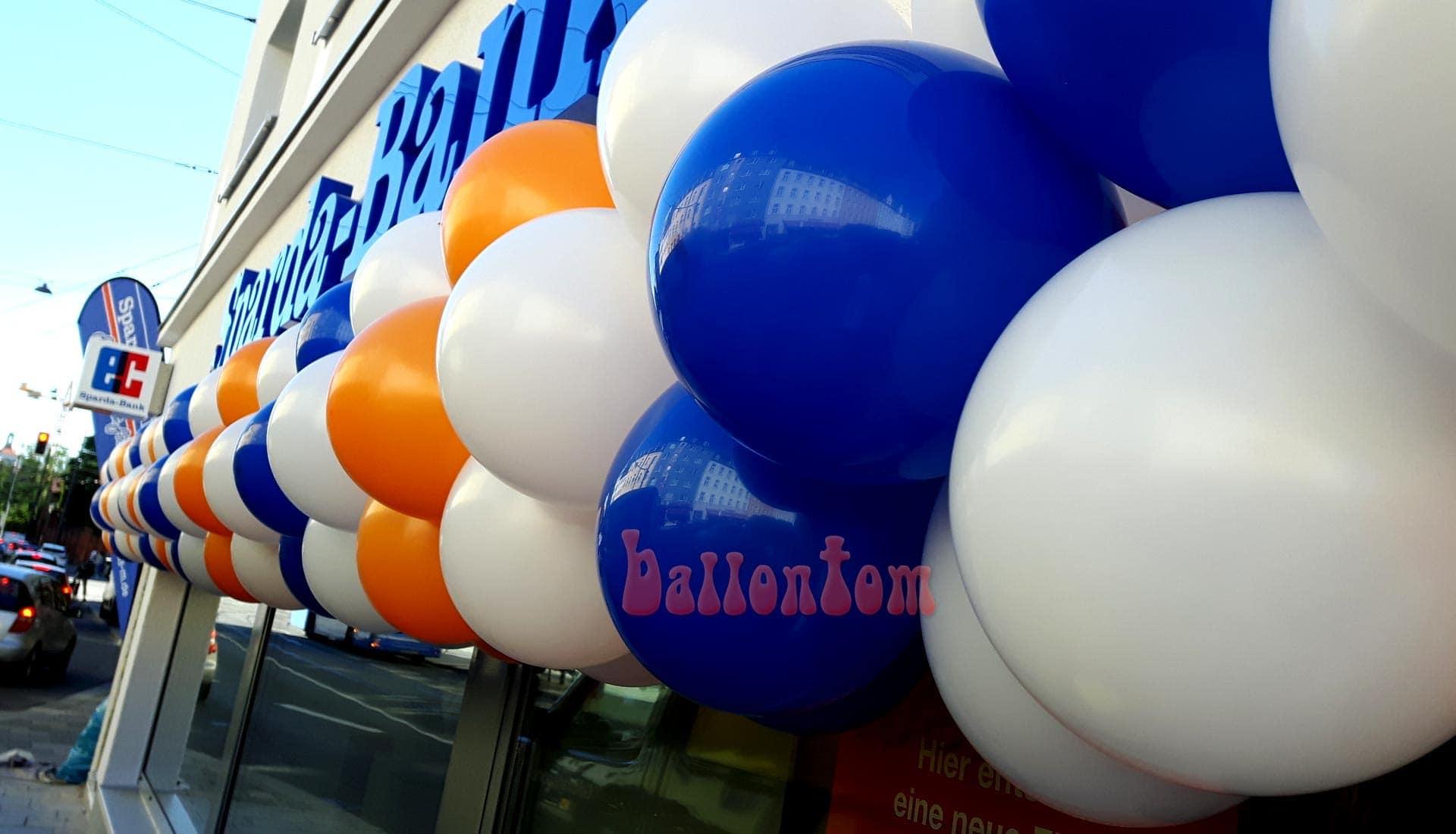 Ballongirlande für Sparda Bank München
