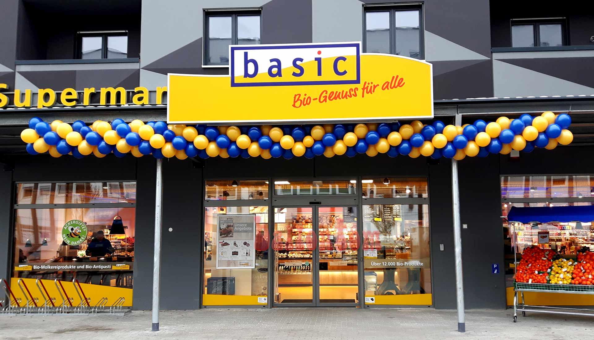 Ballongirlande für basic Biomarkt in München