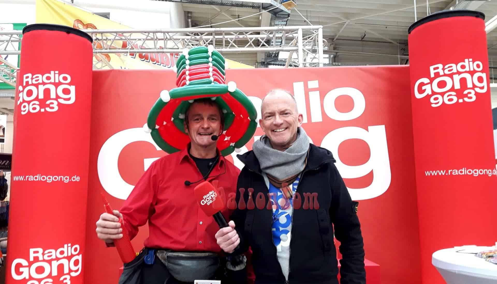 ballontom unterwegs mit Morningman Mike Thiel von Radio Gong 96,3 München