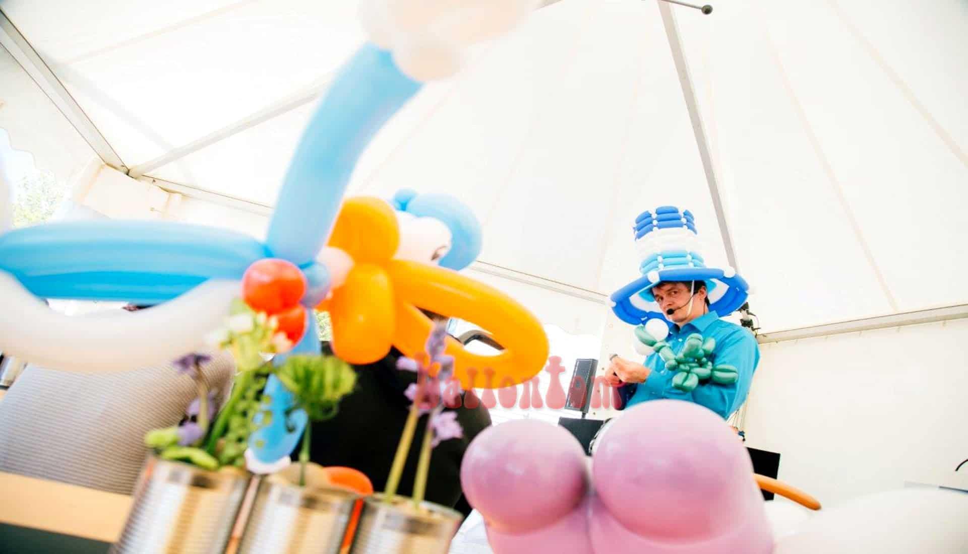 Ballonkünstler ballontom bei Linde Gas München