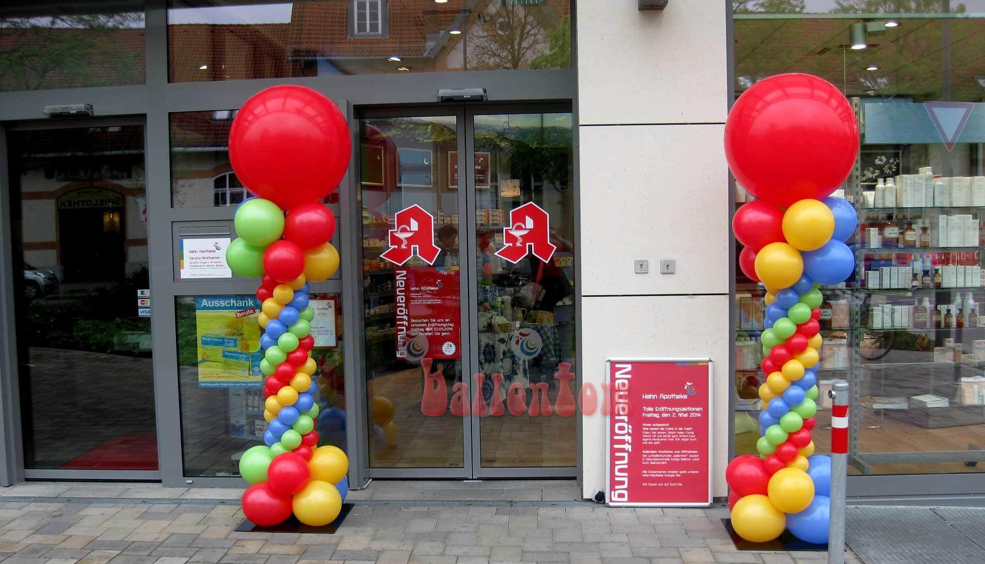 Ballonsäulen für eine Apotheke in München