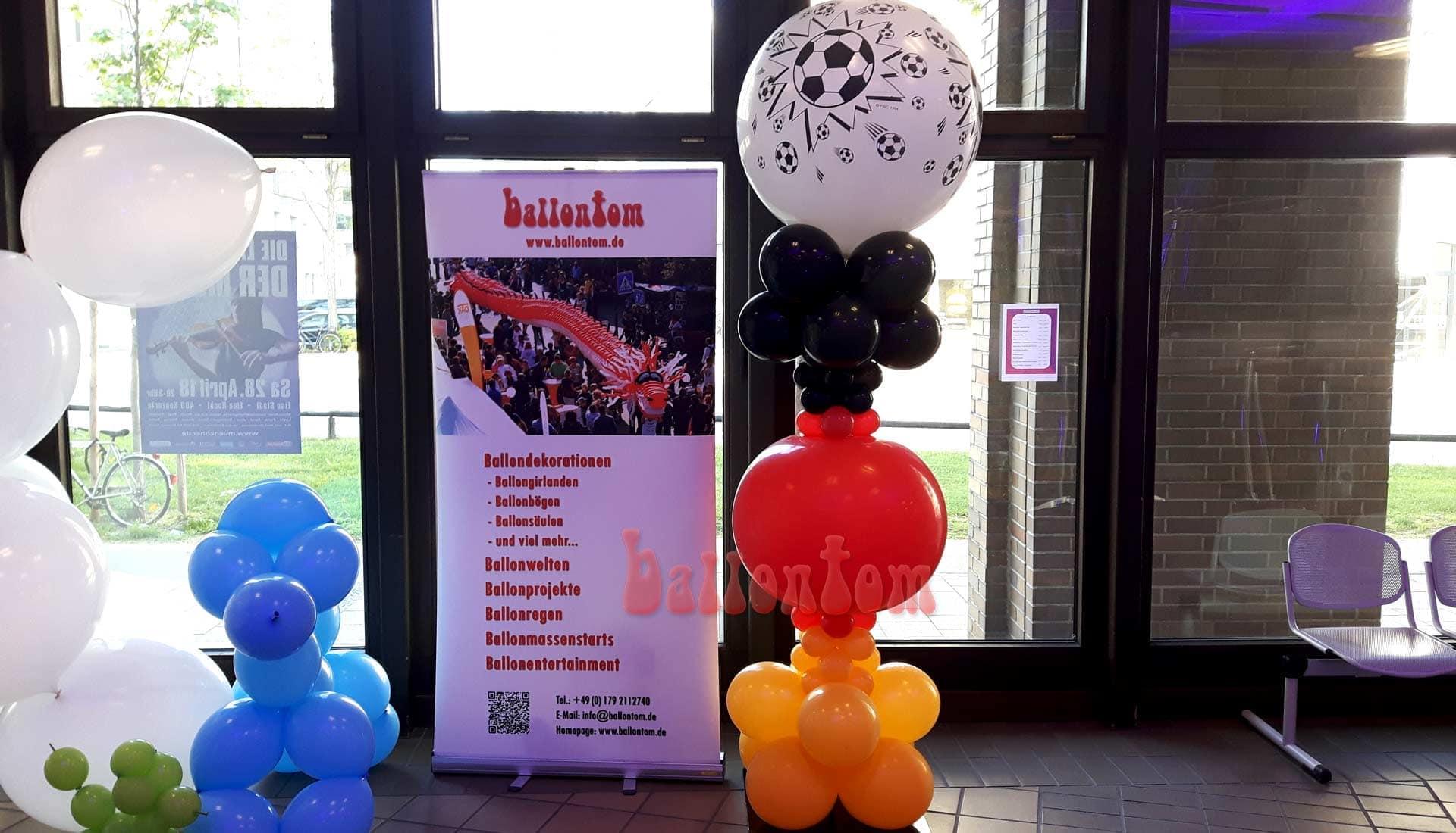 Ballonsäule für Fußballfans in München