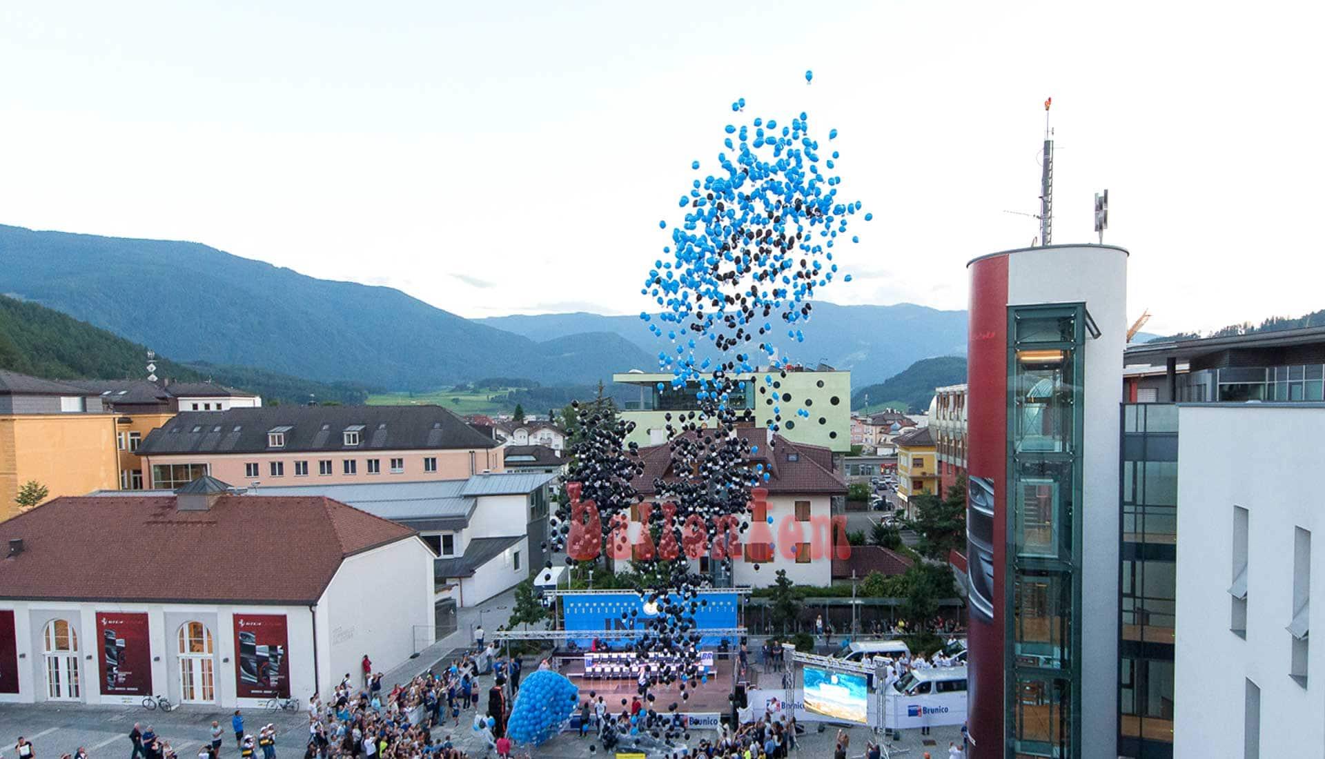 Ballonstart für Inter Mailand in Bruneck - Italien von ballontom
