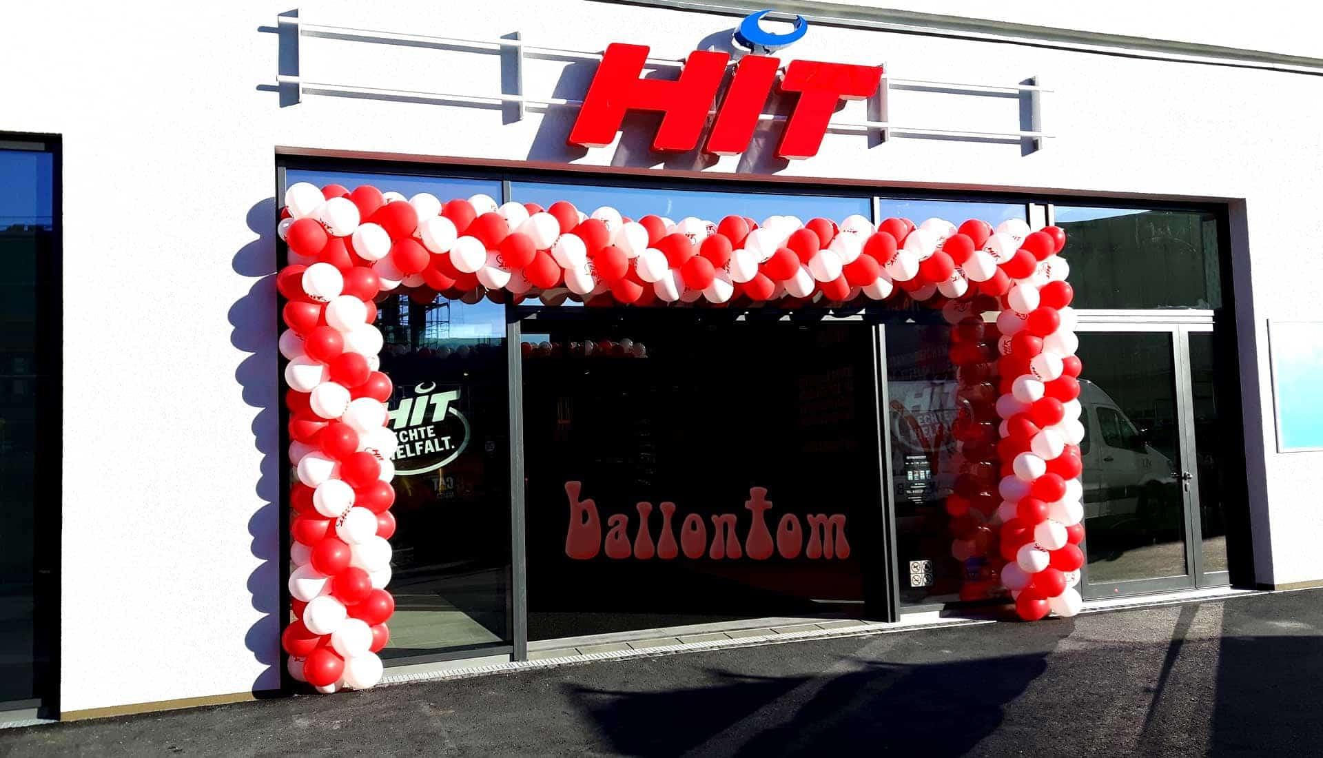 Ballontor für HIT- Markt in München