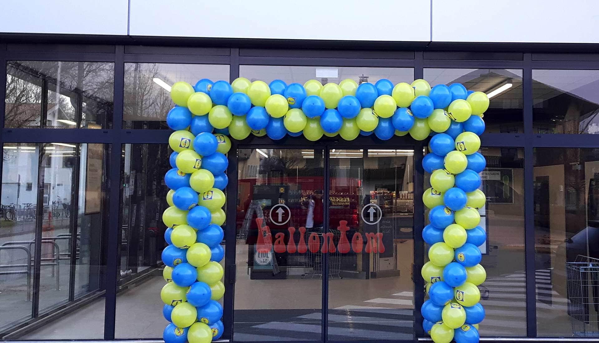 Ballontor für Lidl in Prien am Chiemsee