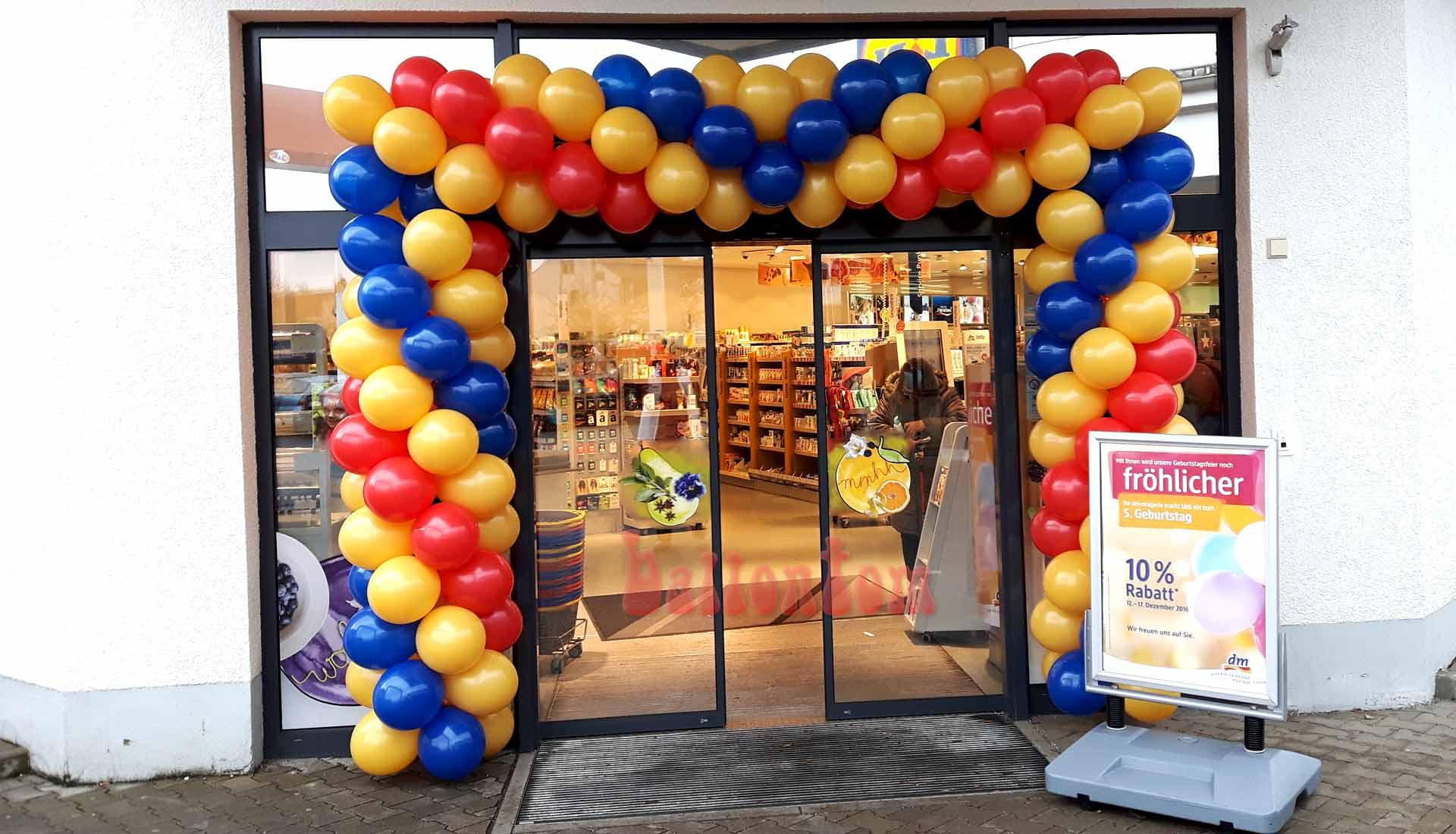 Ballontor für dm-drogerie-markt in Ottobrunn