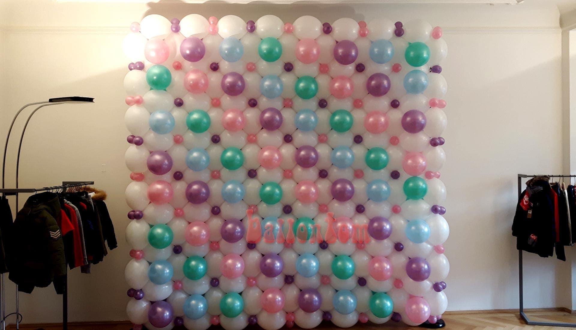 Ballonwand für eine Modeschau in München