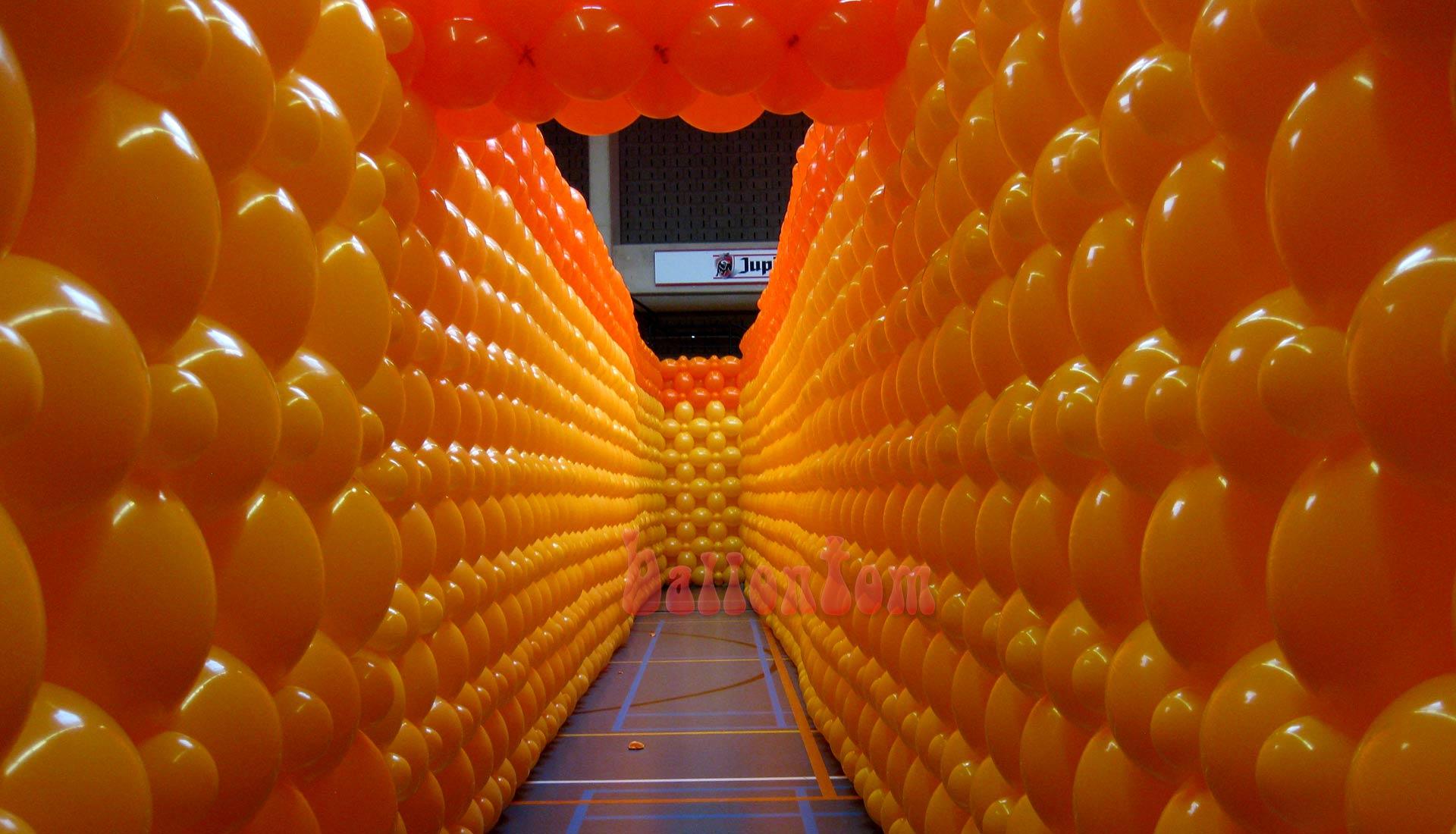 Ballonwände für unseren Weltrekord in Belgien