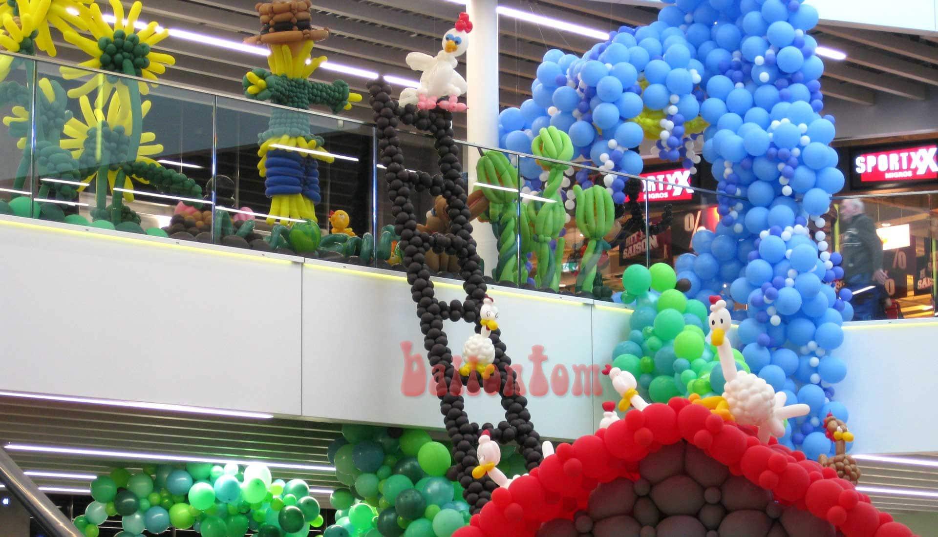 Ballonwelt Lausanne - Schweiz - Hühnerleiter - Projekt: Canniballoon Team Didier Dvorak - Unterstützt durch ballontom