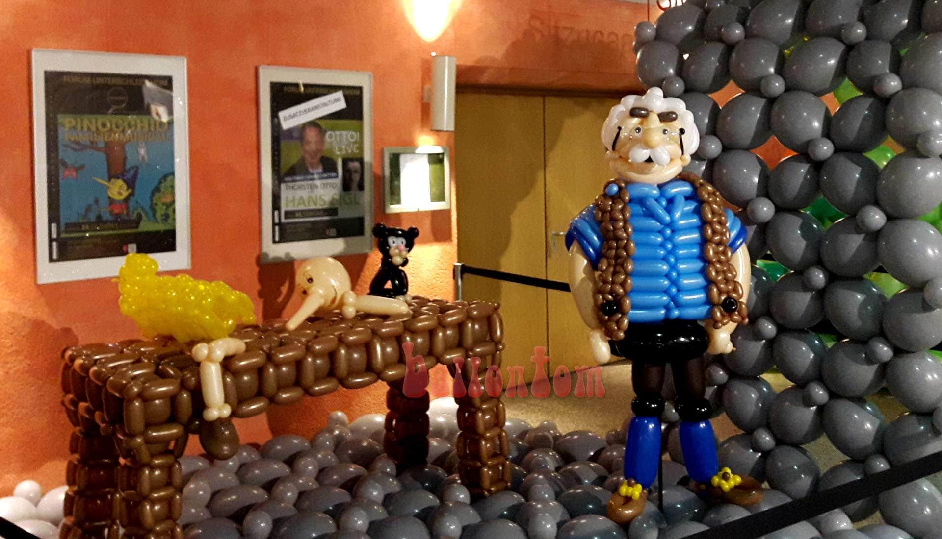 Ballonwelt zur Kinderoper Pinocchio in Unterschleißheim Nähe München - Bild Holschnitzer Gepetto