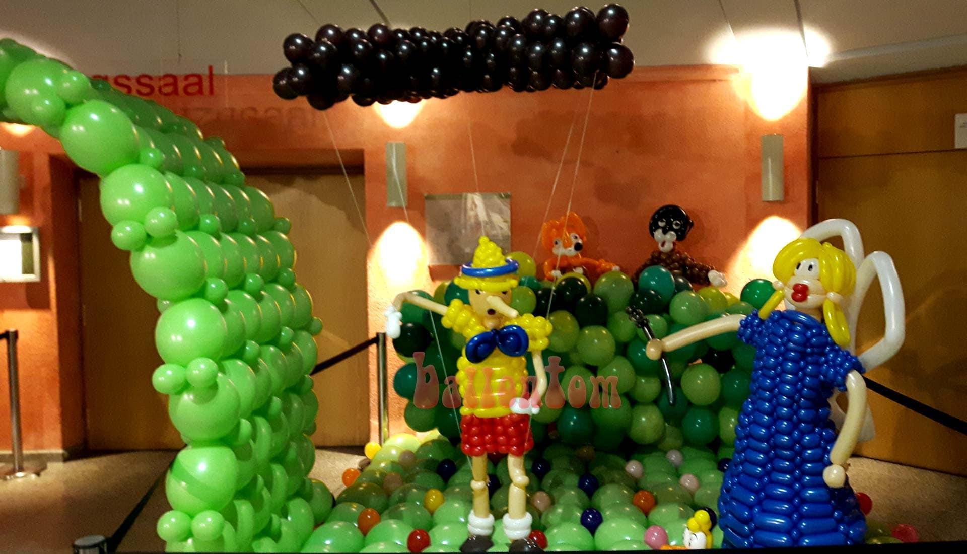 Ballonwelt zur Kinderoper Pinocchio in Unterschleißheim Nähe München - Bild: Pinocchio, Gute Fee und die Bösewichter