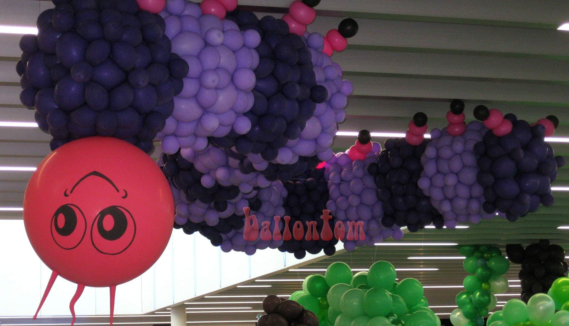 Ballonwelt Lausanne - Schweiz - Raupe - Projekt: Canniballoon Team Didier Dvorak - Unterstützt durch ballontom