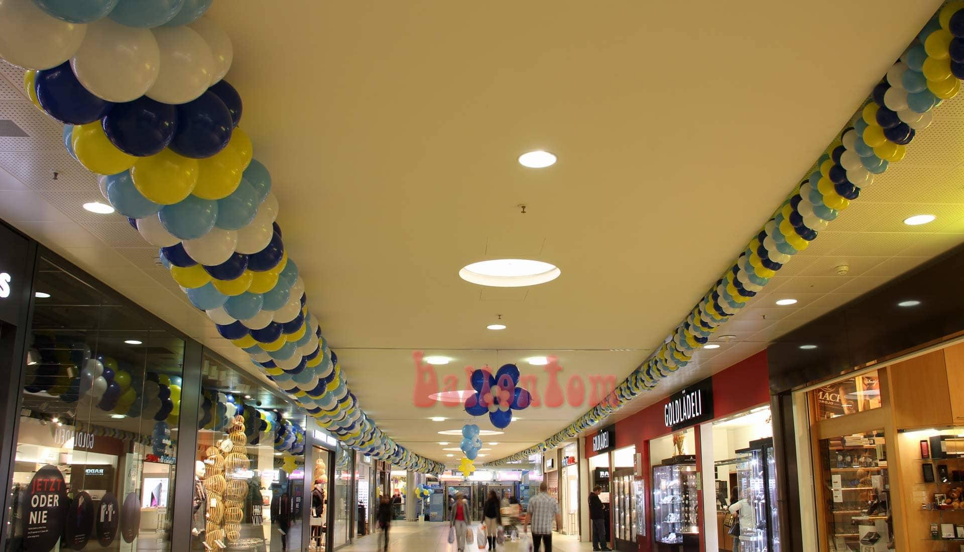 Jubiläum Seedam Center - Projekt: Ballonbox - Foto: Walter Businger - Unterstützung durch ballontom