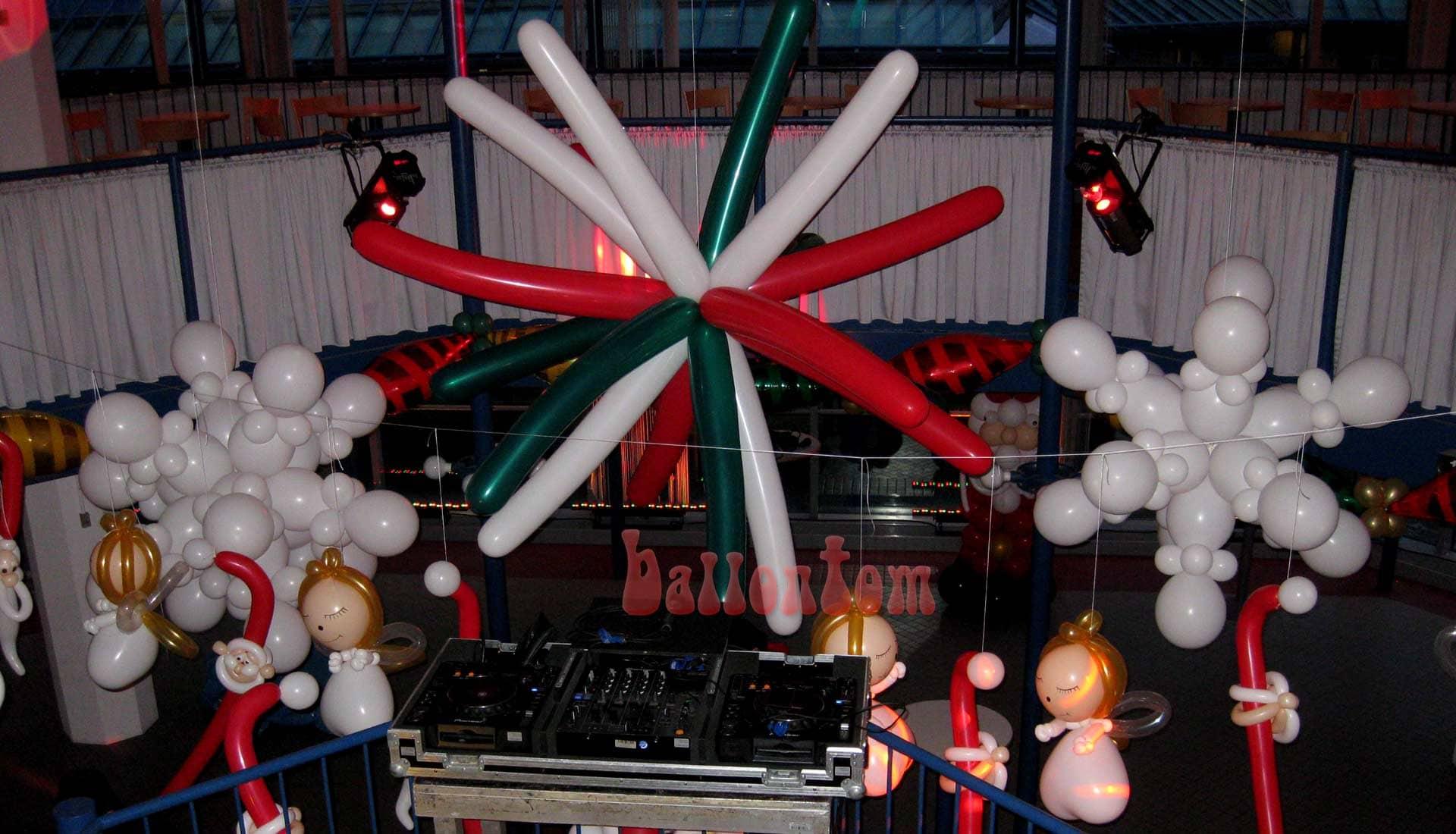 Weihnachsdekoration für eine Weihnachtsfeier in München