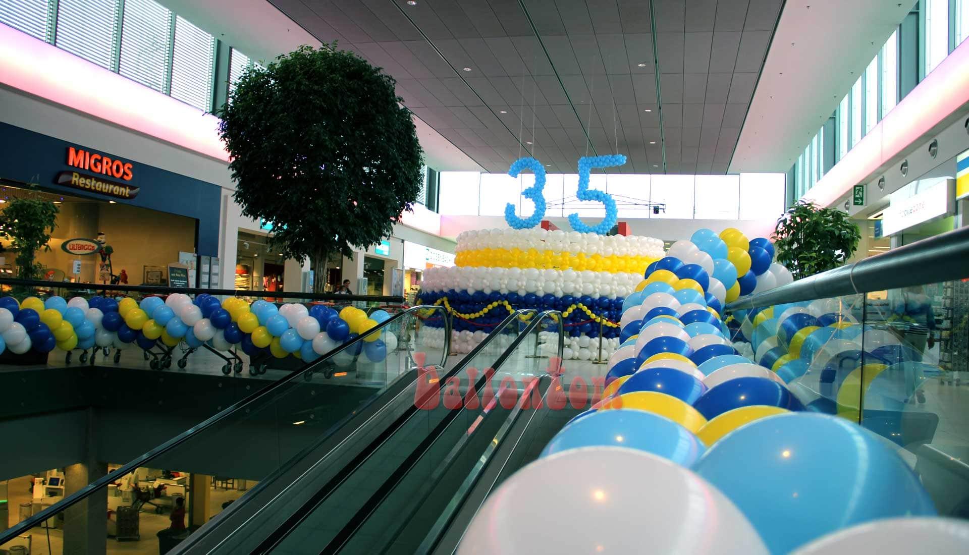 Jubiläum Zuger Land - Projekt: Ballonbox - Foto: Walter Businger - Unterstützung durch ballontom