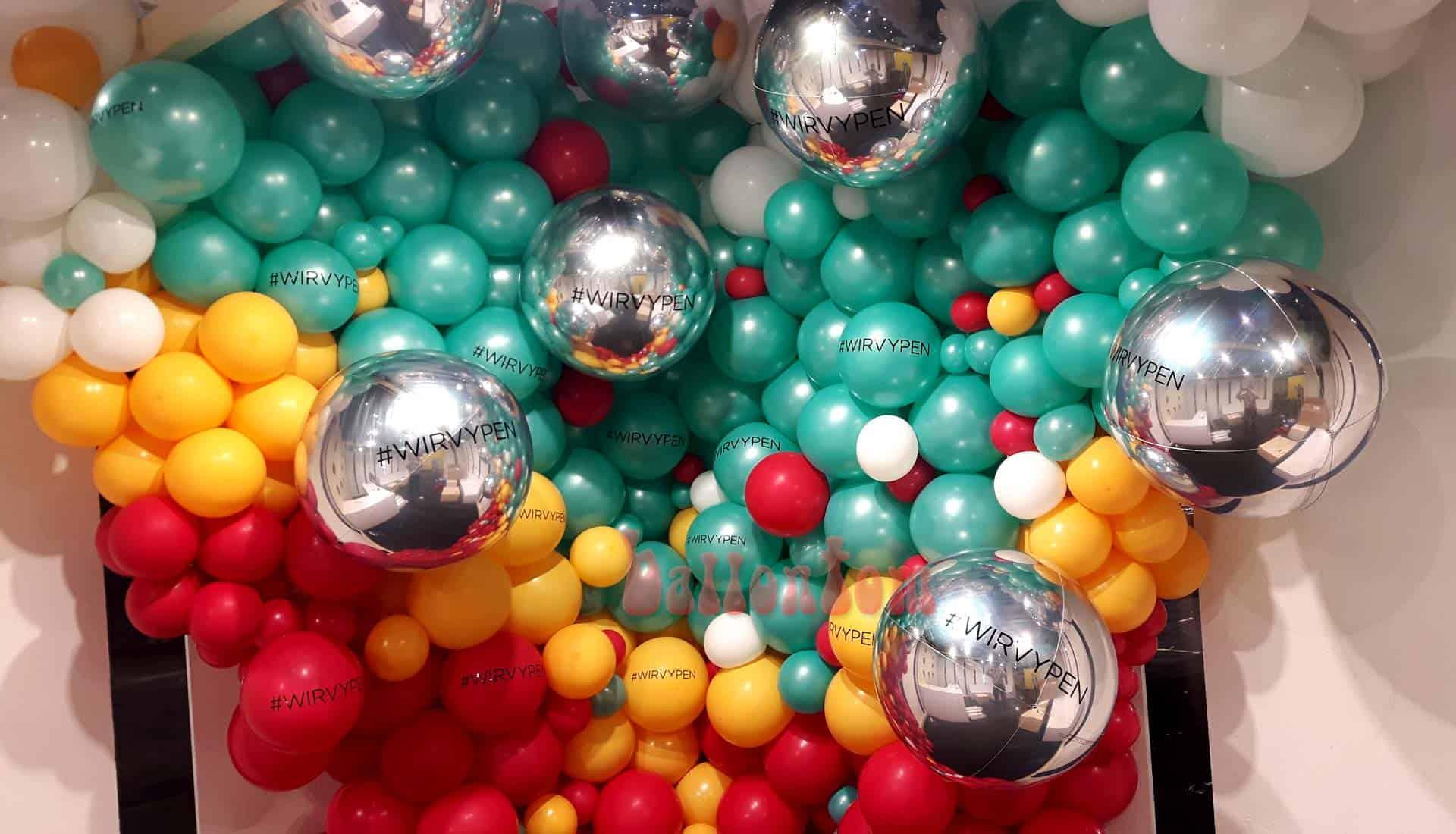 Organic Foto Ballonwand im Auftrag von Pittsballoon