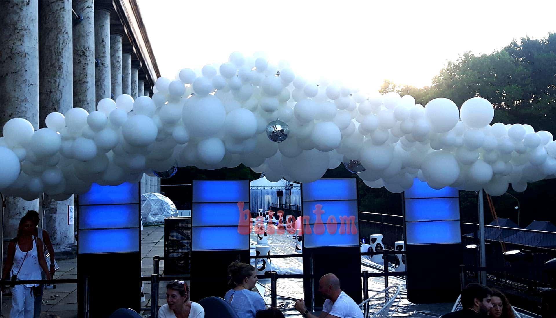 Ballooncloud für Sommerfest im P1 in München - Projekt von ballontom