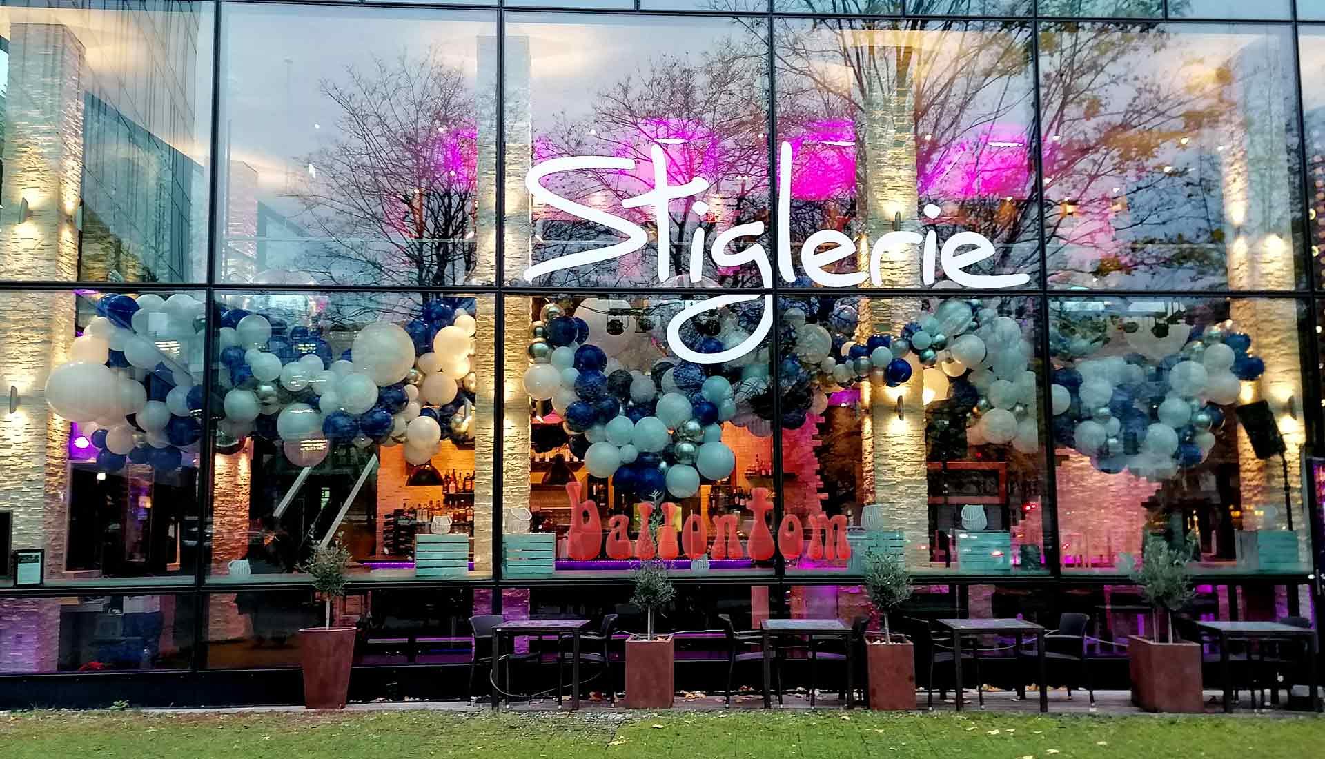 Organic Dekoration in der Stiglerie in München -  Projekt + Durchführung von ballontom