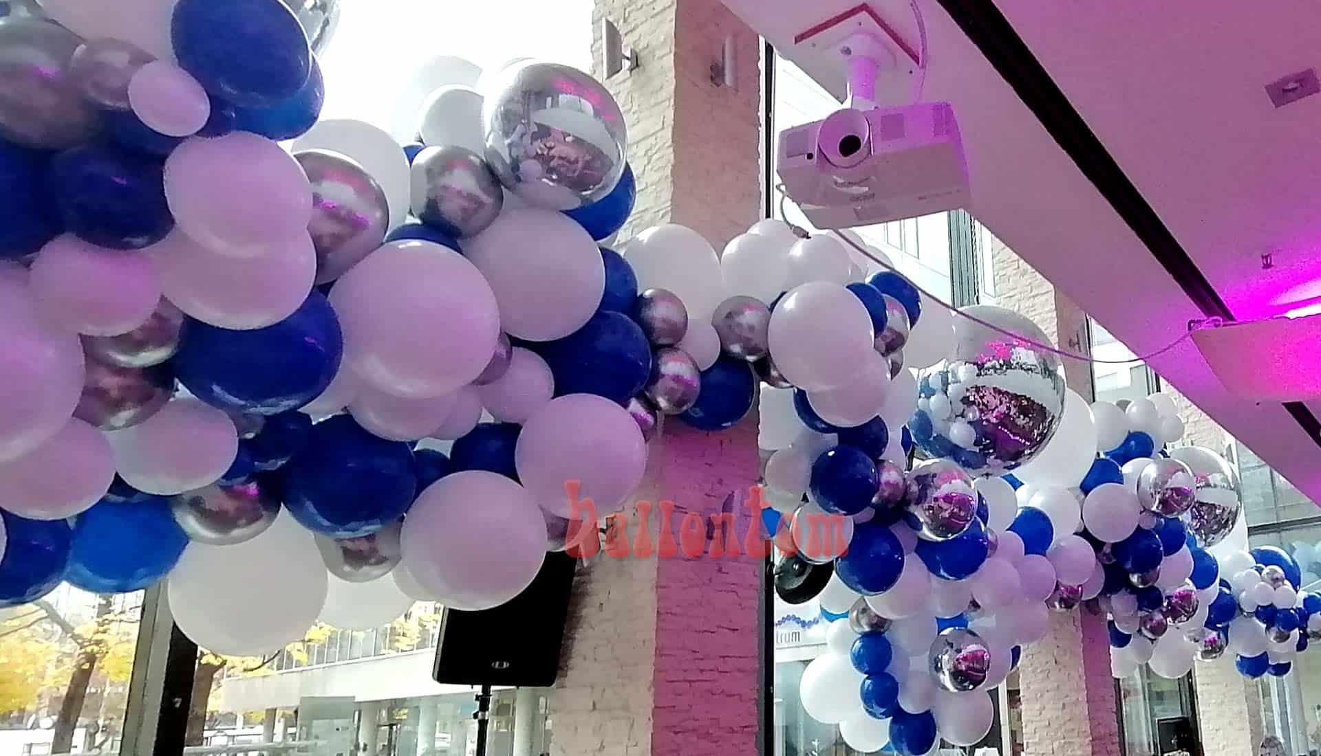 Organicballondekoration Mitarbeiterfest in der Stiglerie München -  Projekt + Durchführung von ballontom