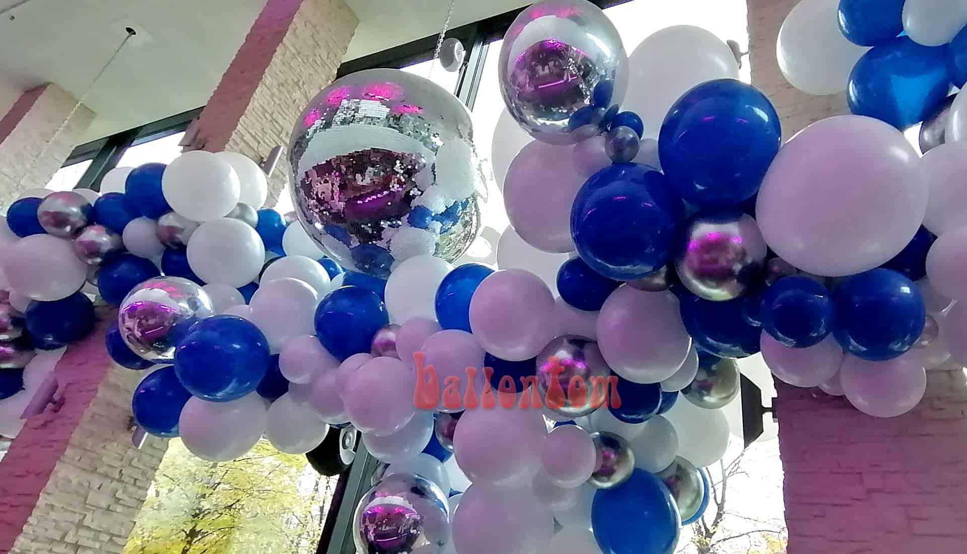 Organic Ballon Dekoration in der Stiglerie in München - Projekt + Durchführung von ballontom