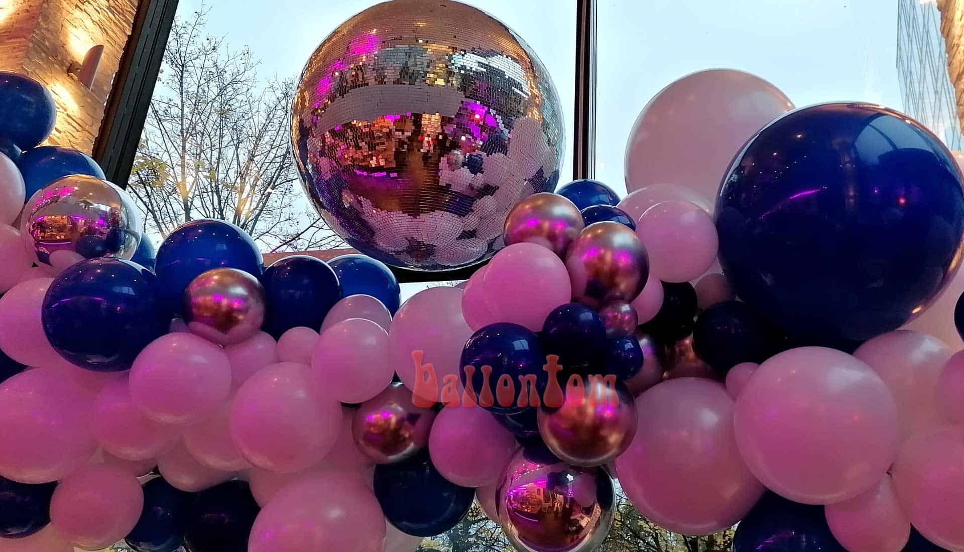 Organic-Ballon-Dekoration für ein Mitarbeiterfest in der Stiglerie in München -  Projekt + Durchführung von ballontom