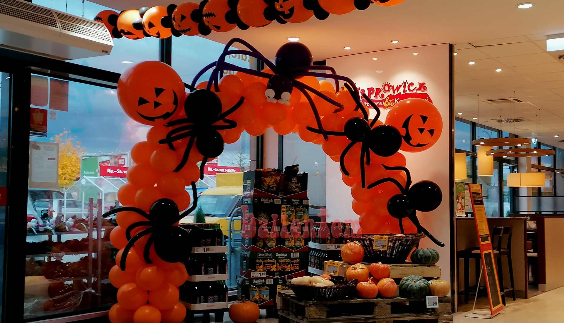 Halloweendekorationen ausBallons