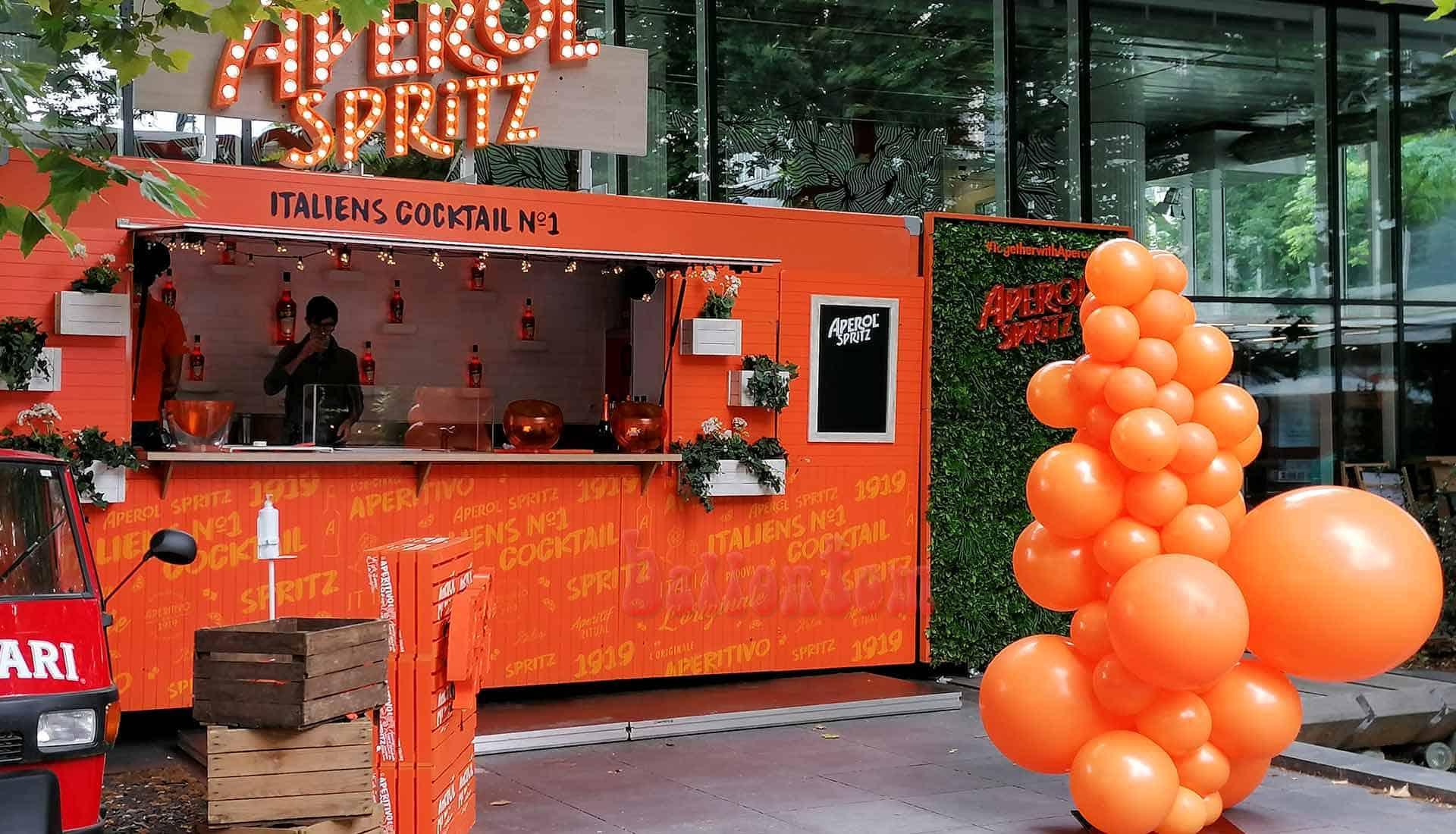 Aperol Spritz Bar Tour 2020 Organic Ballonsäule