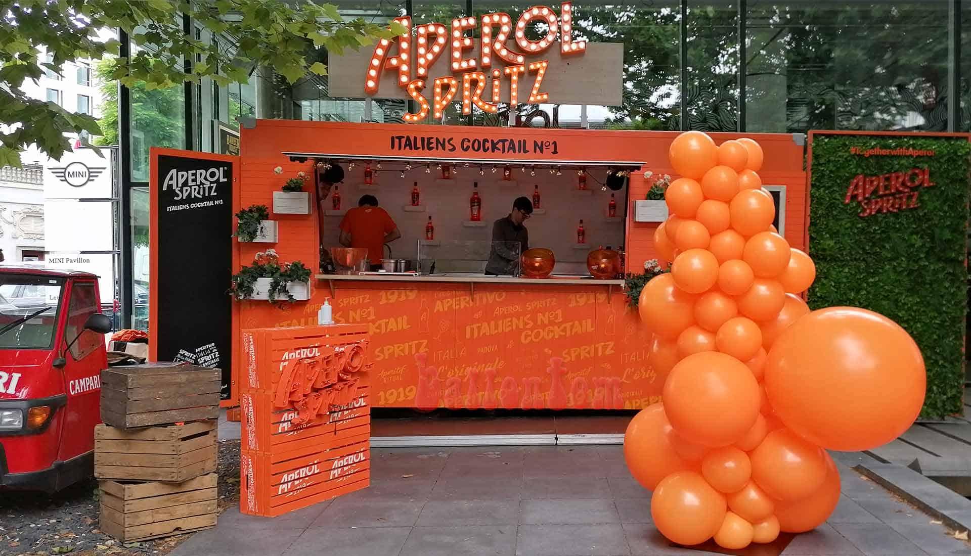 Aperol Spritz Bar Tour 2020 Organic Ballonsäulen