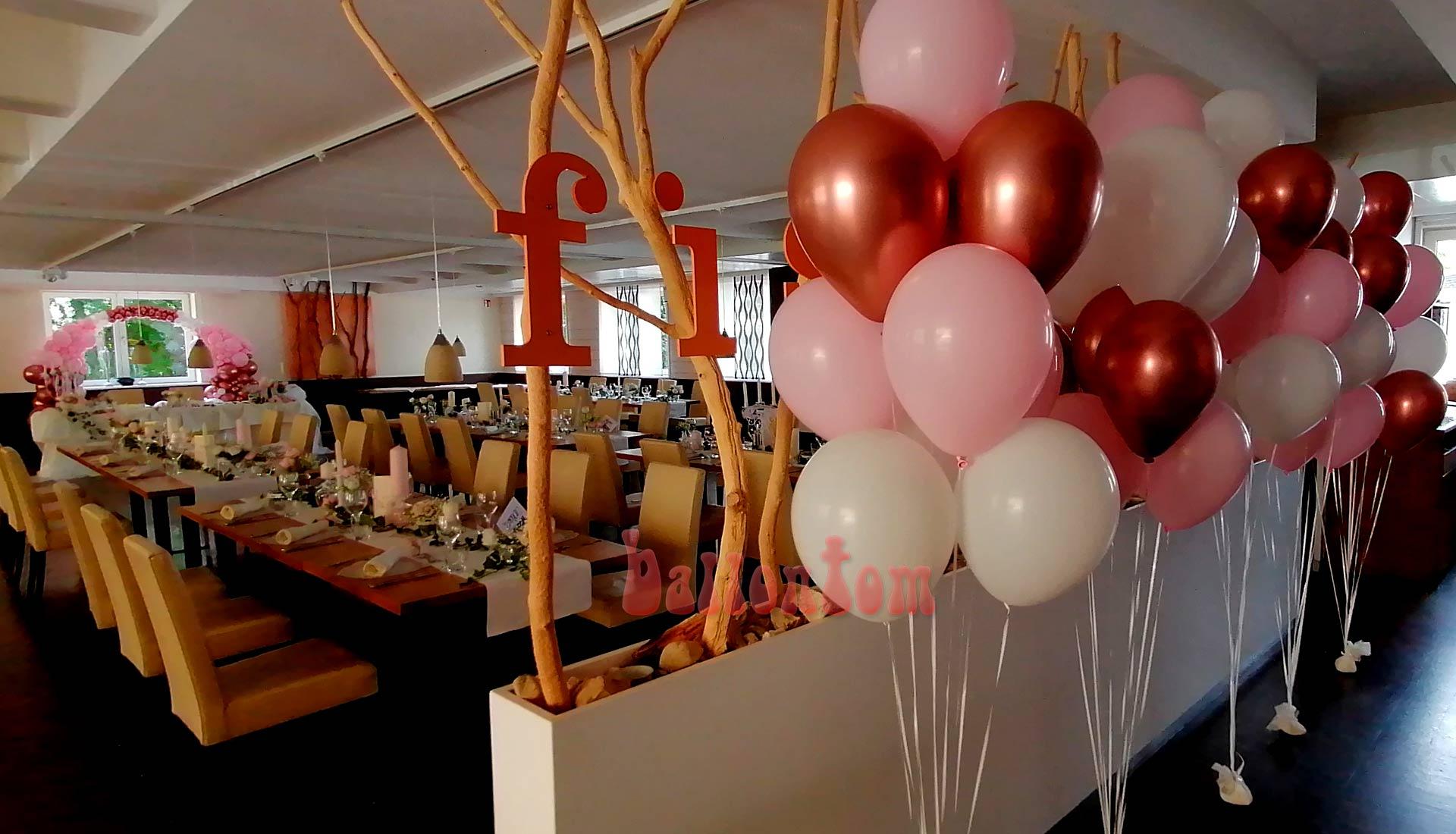 Helliumballons für Ihre Hochzeit